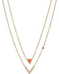 Fossil - Necklace - Lyst