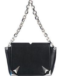b87269adfc Mugler Round Crossbody Bag in Black - Lyst