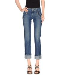 Liu Jo - Denim Trousers - Lyst
