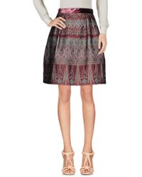 Alberta Ferretti - Knee Length Skirt - Lyst