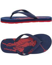 Ralph Lauren - Toe Strap Sandal - Lyst