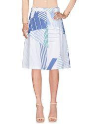 Maison Kitsuné - Knee Length Skirt - Lyst