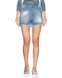 Motel - Denim Bermudas - Lyst