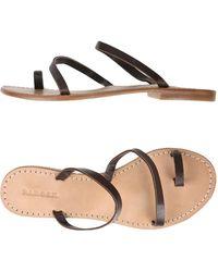 P.A.R.O.S.H. - Toe Strap Sandals - Lyst