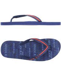 Armani Jeans - Toe Post Sandal - Lyst