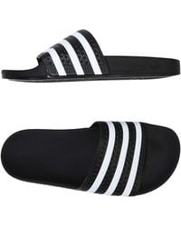 ddfdd0339caa0 adidas Originals Adilette Black Striped Teddy Slides - Womens Uk 4 ...