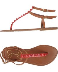 Jessica Simpson - Toe Strap Sandals - Lyst