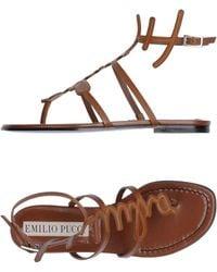 Emilio Pucci - Toe Post Sandal - Lyst