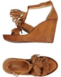 Bronx - Banner Wedge Sandals - Lyst