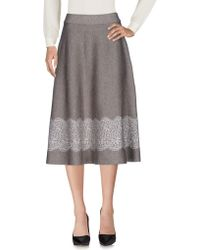 Angelo Marani - 3/4 Length Skirt - Lyst