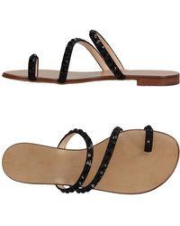 34e77a67343583 Lyst - Giuseppe Zanotti Toe Strap Sandal in Black