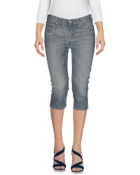 7 For All Mankind - Denim Capris - Lyst