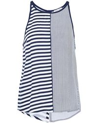 Splendid - Striped Jersey Tank - Lyst