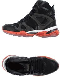 Alexander McQueen X Puma - Run Leather and Mesh High-Top Sneakers - Lyst
