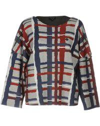 Armani Jeans - Sweatshirt In Viscose Jersey - Lyst