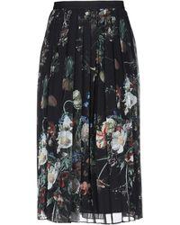 Adam Lippes 3/4 Length Skirt - Black