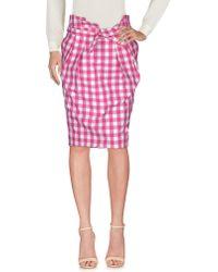 Aglini - Knee Length Skirt - Lyst