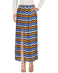 5d7ffec52 Lyst - Michael Michael Kors Pleated Maxi Skirt in Natural