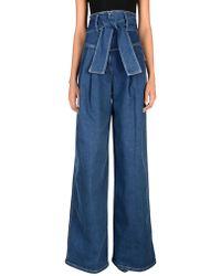 Sara Battaglia Denim Pants - Blue