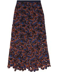 Saloni - 3/4 Length Skirt - Lyst