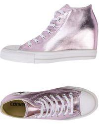 Converse - Sneakers abotinadas - Lyst