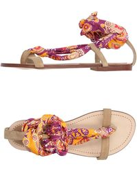 Fisico - Toe Strap Sandals - Lyst
