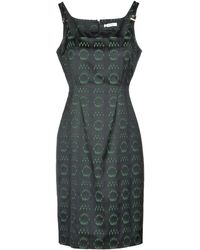 2f3b4edf776 Versace Knee-length Dress in Black - Lyst