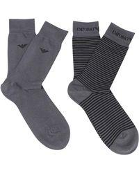 Emporio Armani - Short Socks - Lyst