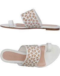 Alexander McQueen - Toe Strap Sandal - Lyst