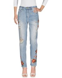 House of Holland - Denim Trousers - Lyst