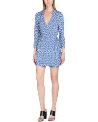 2ef87ca3fd1 Lyst - Diane von Furstenberg Soleil Printed Silk Jumpsuit in Blue