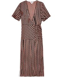 TOPSHOP - Long Dress - Lyst