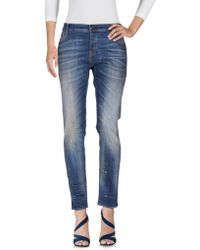 HTC - Denim Trousers - Lyst