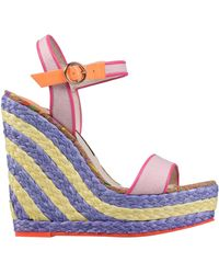 Sophia Webster - Lucita Mixed Media Espadrille Wedge Sandals - Lyst