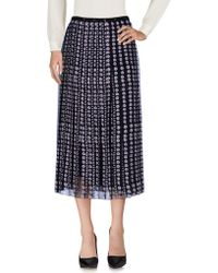 Giamba - Printed Pleated Silk Midi Skirt - Lyst