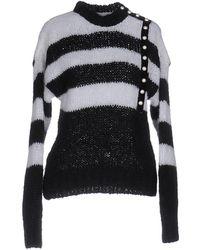 Philosophy Di Lorenzo Serafini - Striped Mohair-blend Knitted Jumper - Lyst