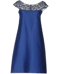 Alberta Ferretti - Short Dress - Lyst