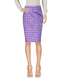 Boutique Moschino - Knee Length Skirts - Lyst