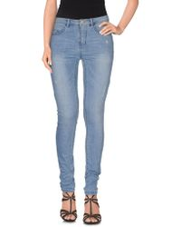 ONLY - Denim Pants - Lyst