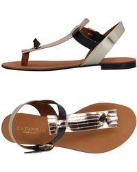 CafeNoir - Toe Strap Sandal - Lyst