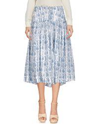 Jil Sander Navy - 3/4 Length Skirt - Lyst