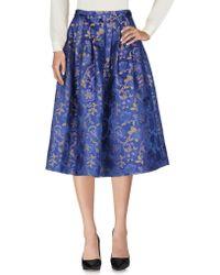 Aglini - 3/4 Length Skirt - Lyst
