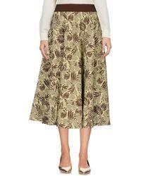 Niu - 3/4 Length Skirt - Lyst