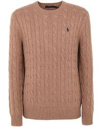 Polo Ralph Lauren - Crew Neck Cable Knit Knit - Lyst