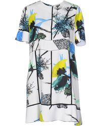 Proenza Schouler - Multicoloured Printed Crêpe Dress - Lyst