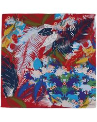 KENZO - Square Scarf - Lyst