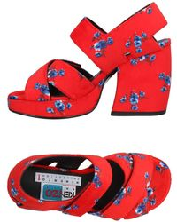 KENZO - Memento 120mm Printed Leather Sandals - Lyst