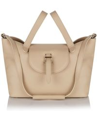 meli melo - Thela Medium Tote In New Sand Calf Leather - Lyst