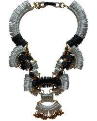 Kirsty Ward - Silver, Black & Gold Pendant - Last One - Lyst