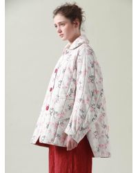 Renli Su - Floral Sprig Print Quilted Jacket - Lyst